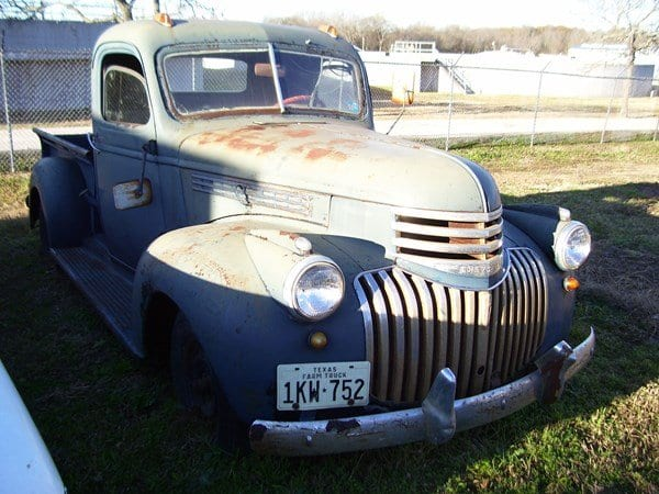 46 Chevy truck before